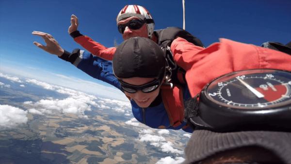 Fallschirmspringen Grefrath Nordrhein Westfalen Tandemsprung