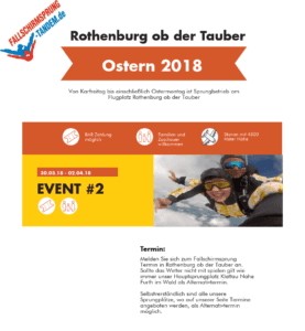 Fallschirmsprung Event Rothenburg ob der Tauber