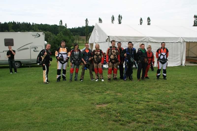 Fallschirmspringen Lehrer und Tandempartner