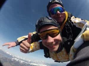 Kempten Durach Fallschirmspringen Tandemsprung