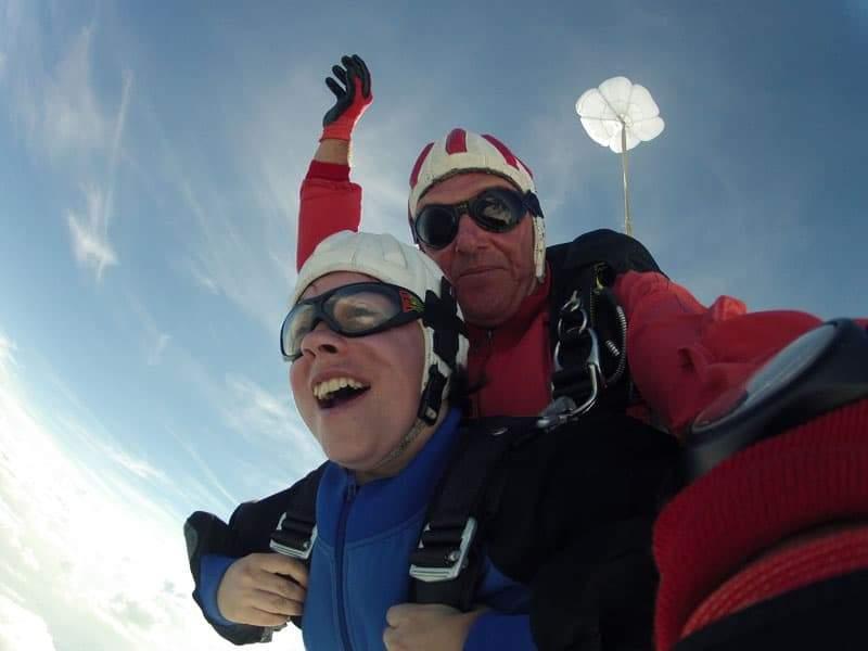 Fallschirmsprung Kundin aus Amstetten Niederösterreich 3