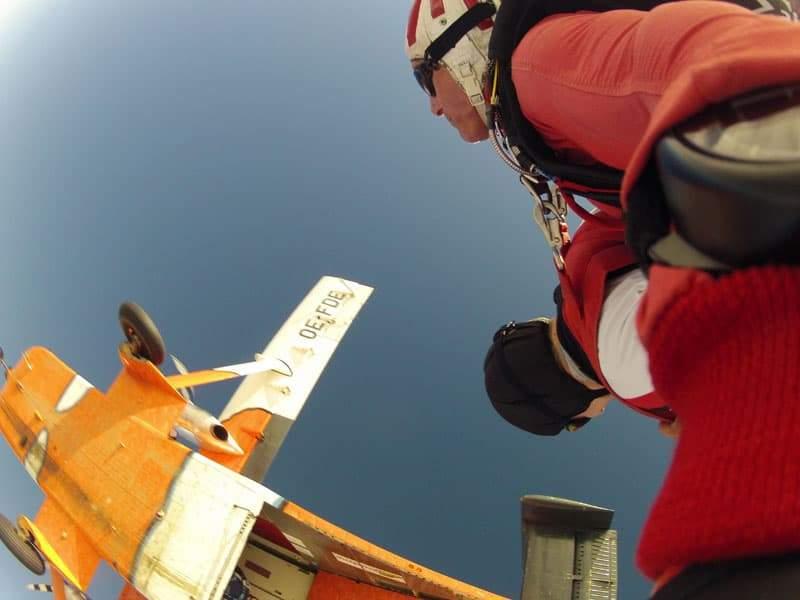 Fallschirmspringen Kunde aus Krems in Niederösterreich 1