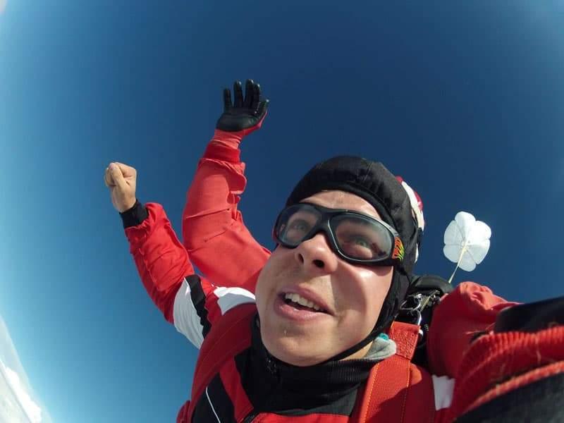 Fallschirmspringen Kunde aus Krems in Niederösterreich 2