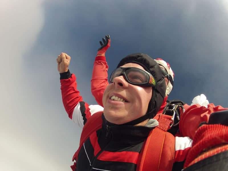 Fallschirmspringen Kunde aus Krems in Niederösterreich 3