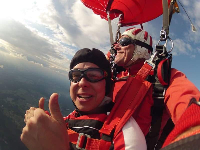 Fallschirmspringen Kunde aus Krems in Niederösterreich 5