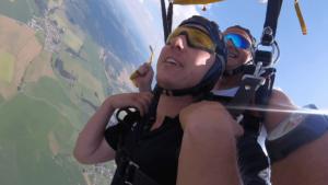 Tandemsprung Viechtach Niederbayern Fallschirmspringen 412