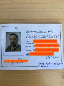 Passagier Tandemsprung Sprungbuch