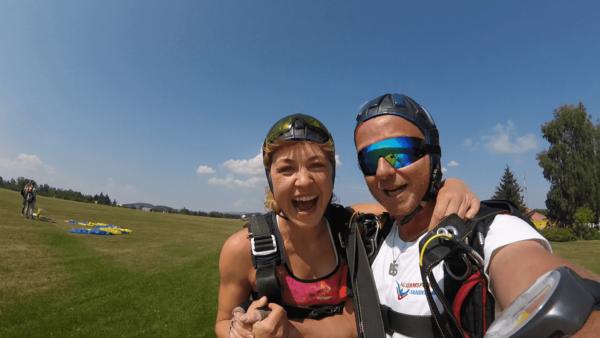 Landungen mit dem Fallschirm sind sanft