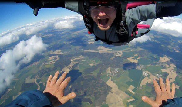 Freifall Spaß AFF Skydiving Klatovy