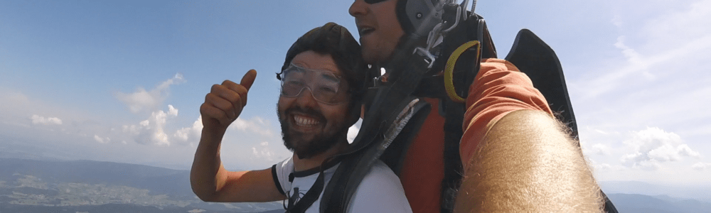 Tandemspringen mit ganz viel Spaß in Arnbruck