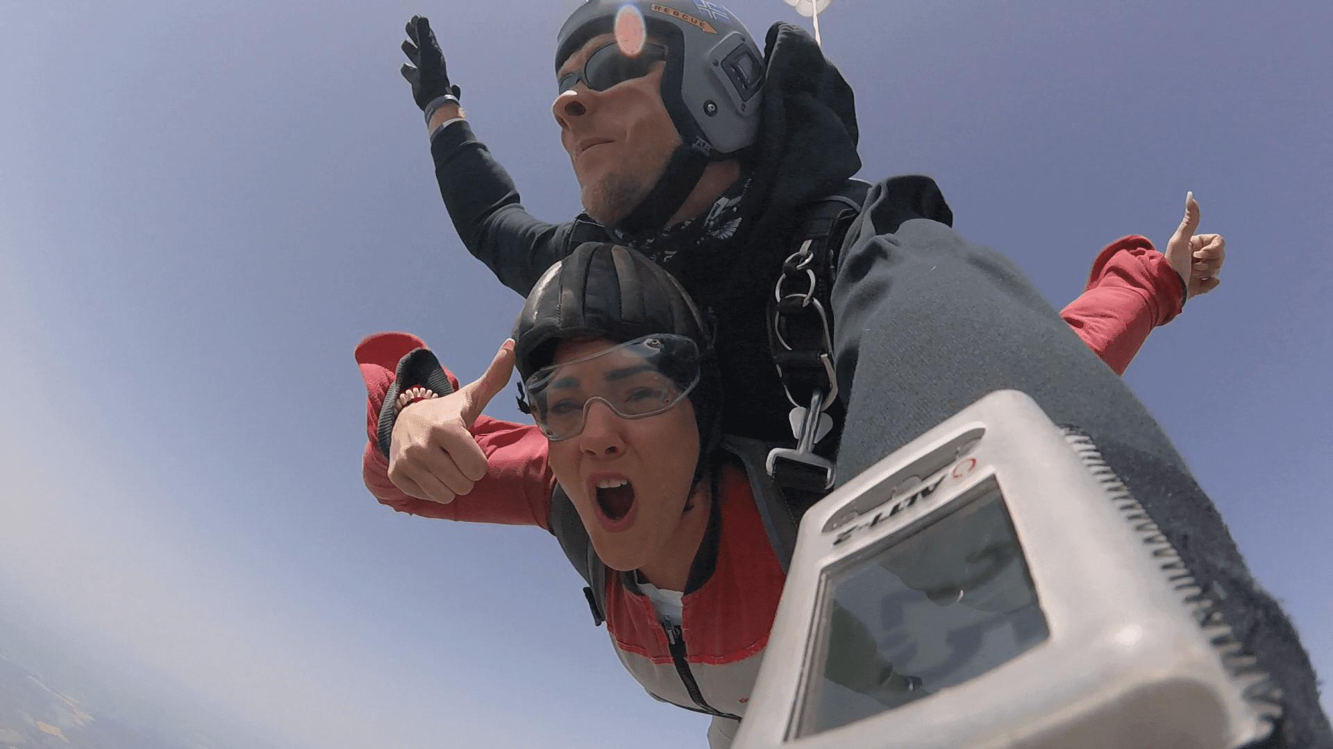Bayern Fallschirm Tandemspringen 4300 Meter Höhe
