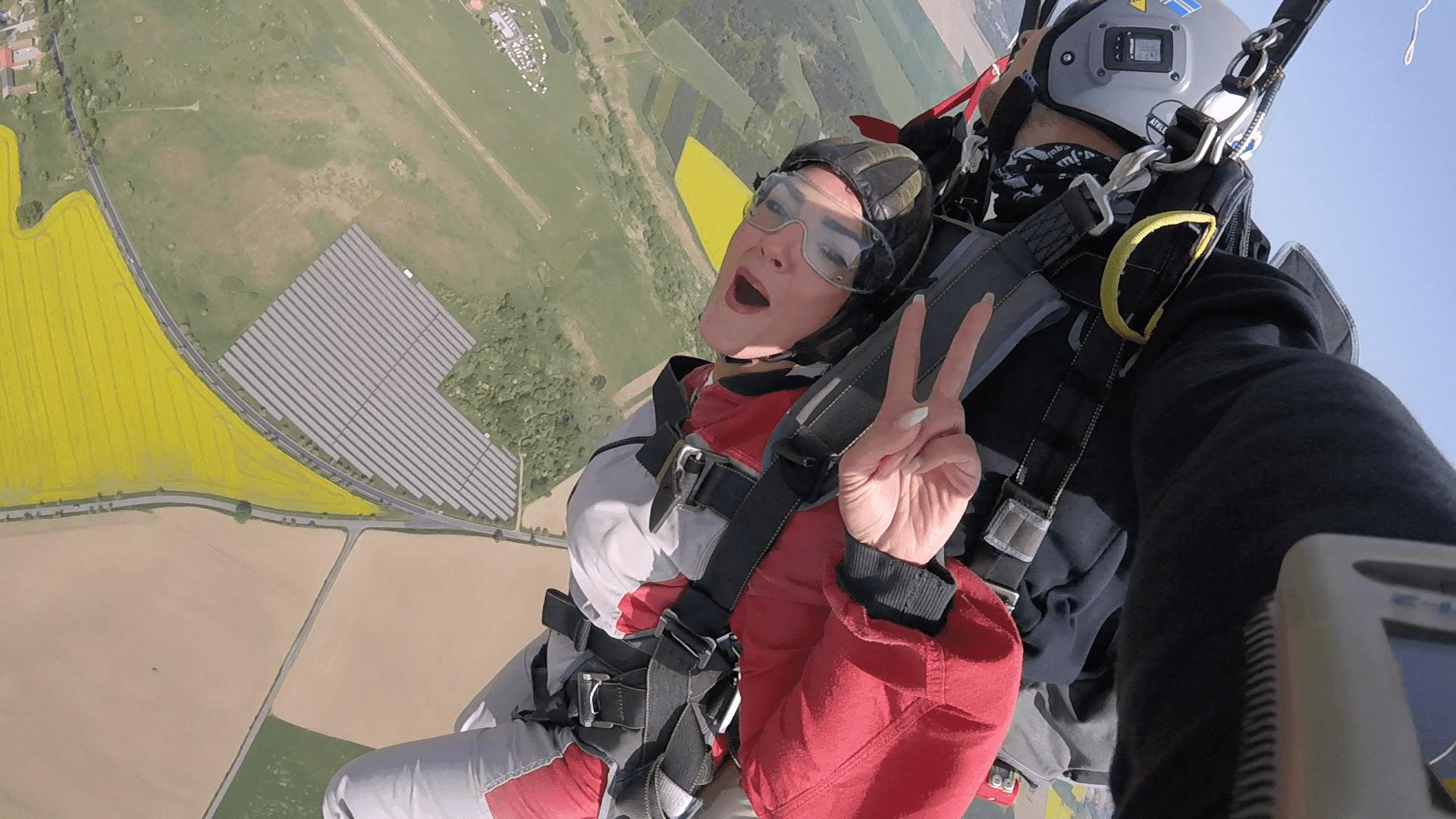 Fallschirm Drehungen über Bayern & Klatovy