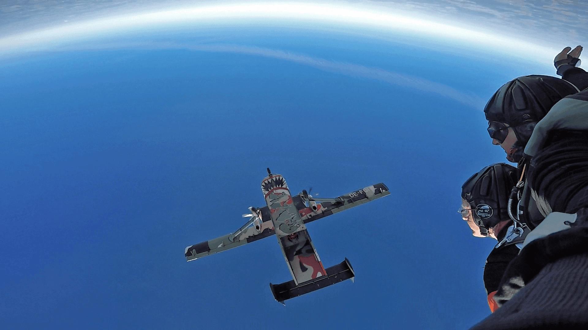 Fallschirmspringen Flugplätze Bayern
