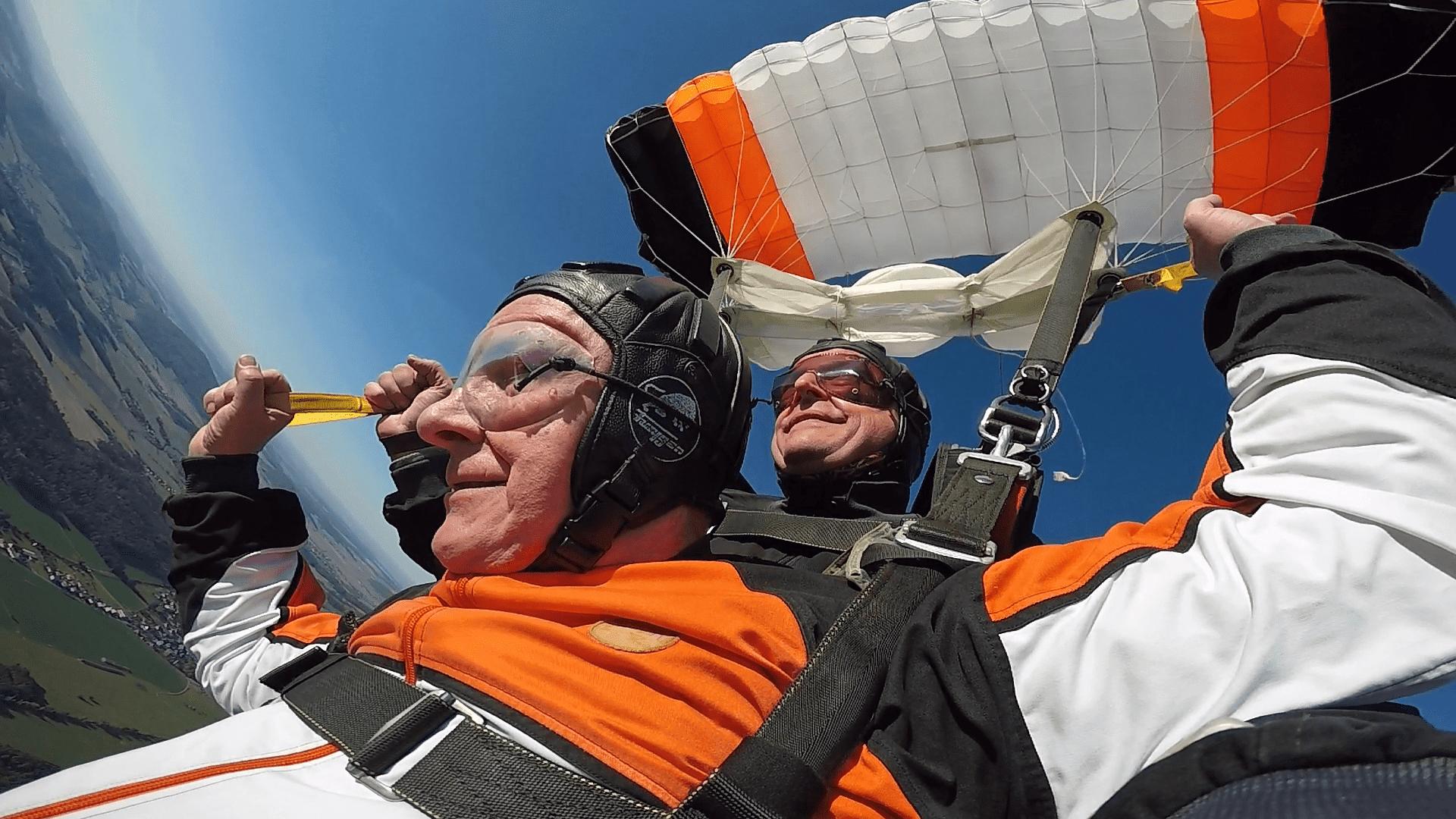 Passagier Fallschirm lenken