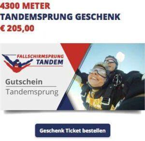 Fallschirmspringen schenken 2019