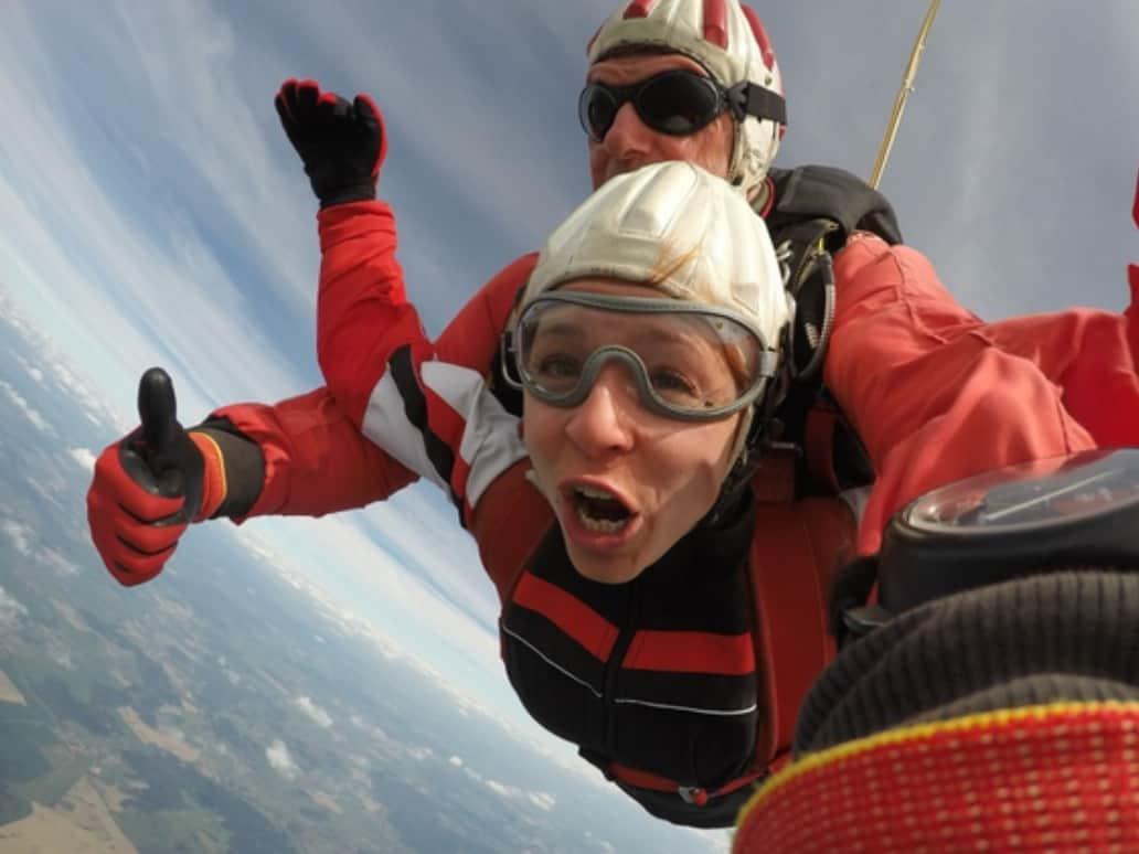 Tandemsprung Fallschirmspringen Weihnachtsgeschenk 2018