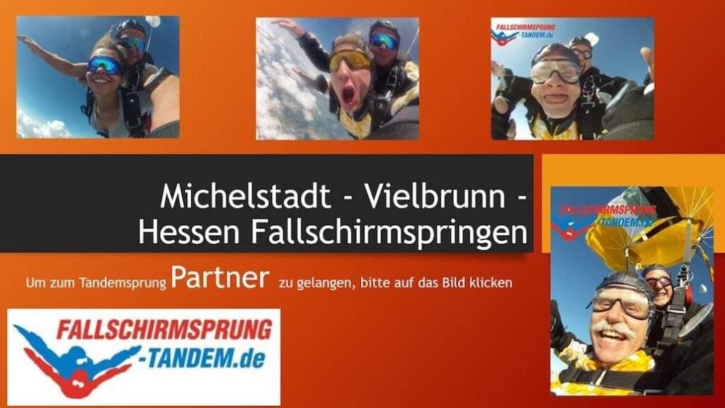 Hessen Fallschirmsprung Michelstadt Vielbrunn Tandemsprung