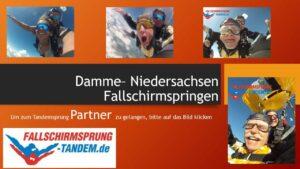 Damme Fallschirmspringen Flugplatz Tandemsprung Niedersachsen