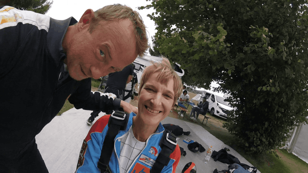 Interview mit Heike zum Tandemsprung mit Handicap
