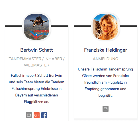 Ansprechpartner Tandem Fallschirmspringen Bayern