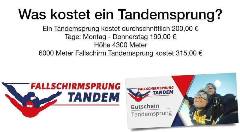 Tandemsprung Preis