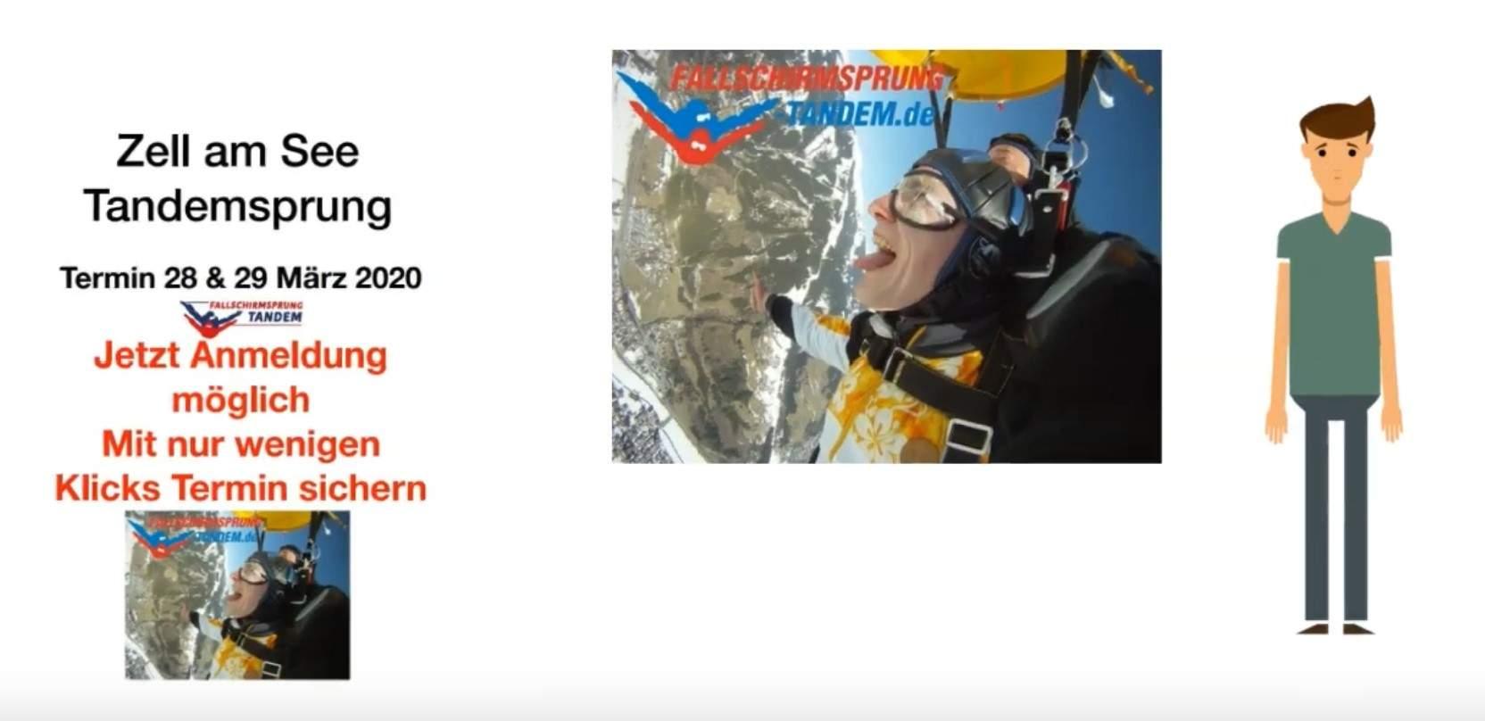 Zell am See Tandem Fallschirmsprung Termin 2020