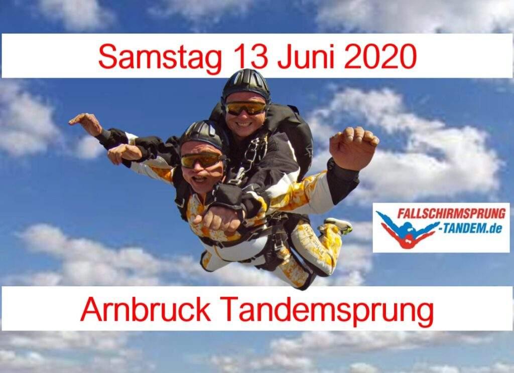 Fallschirmsprung Abenteuer Niederbayern Arnbruck