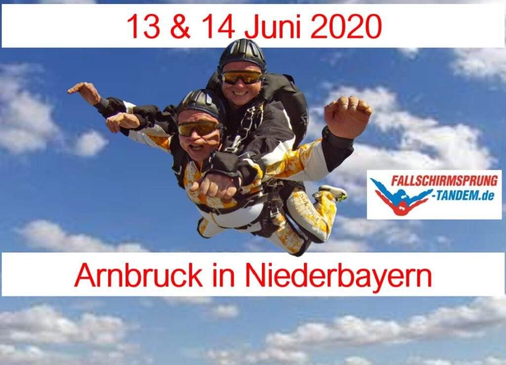 Niederbayern Fallschirmspringen als Tandemsprung in Arnbruck