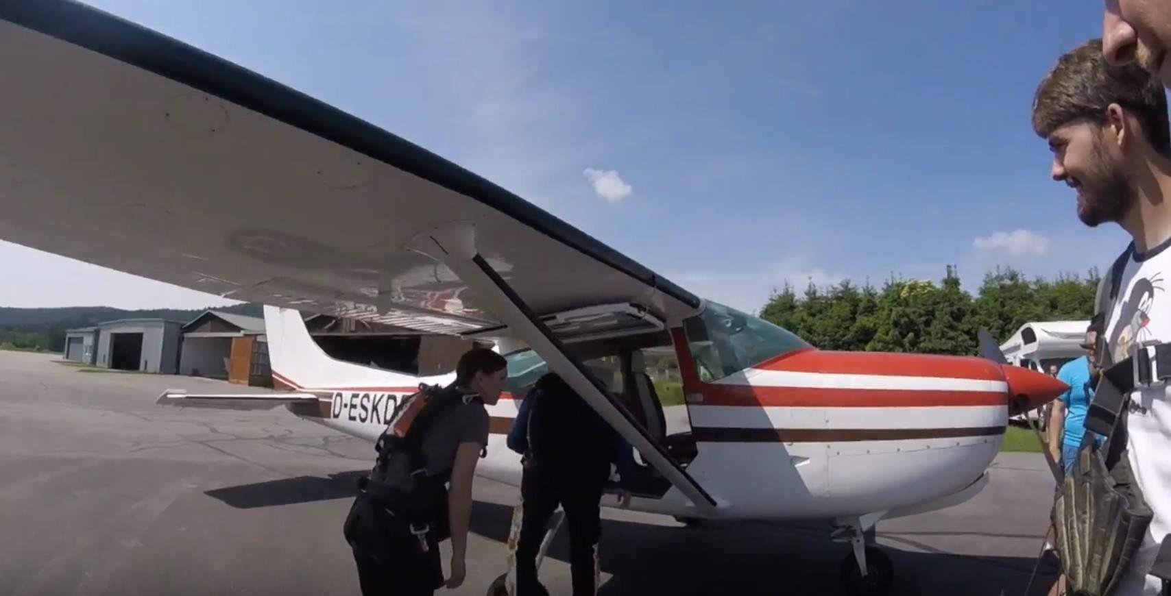 Cessna zum Fallschirmspringen in Arnbruck