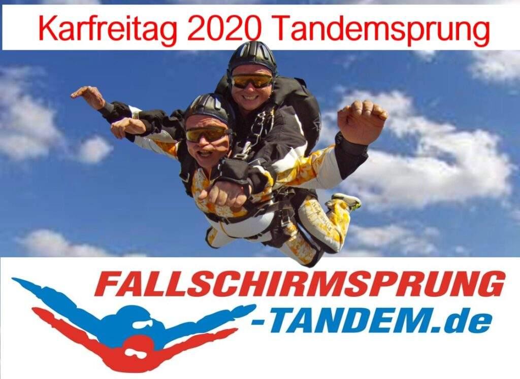 Fallschirmspringen Karfreitag 2020 Rothenburg ob der Tauber