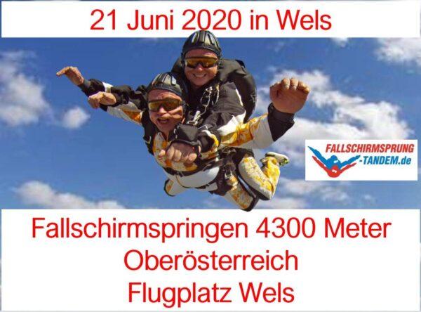 Oberösterreich Fallschirmspringen 21 Juni 2020