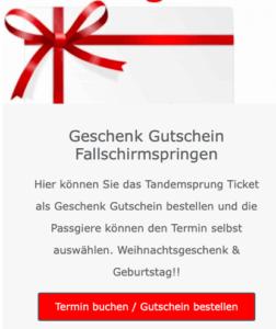 tandemsprung Geschenk 2021